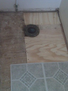 Upstairs Bathroom Subfloor