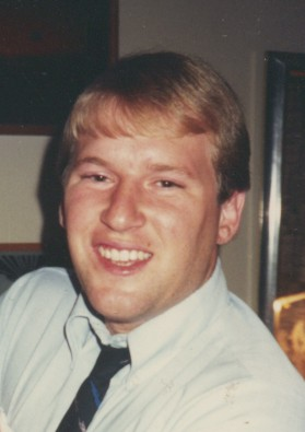 Me at age 21 with my '80s skinny tie