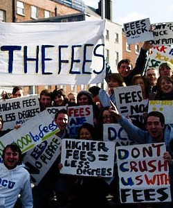 Fight Against University Fees in Dublin
