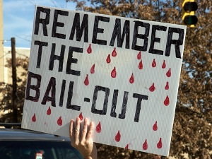 Bail-Out Protest Sign