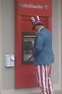 Uncle Sam at the ATM