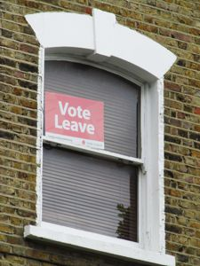 Brexit Vote Leave Sign
